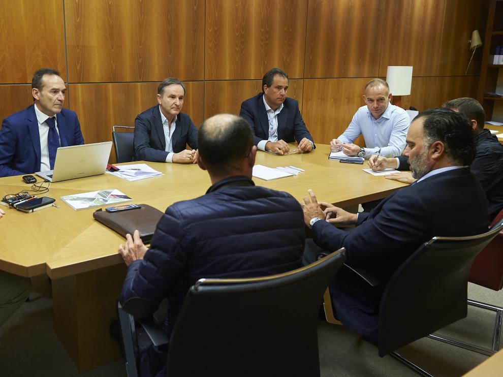 El Consejo de Administración del Real Zaragoza reunido este viernes.