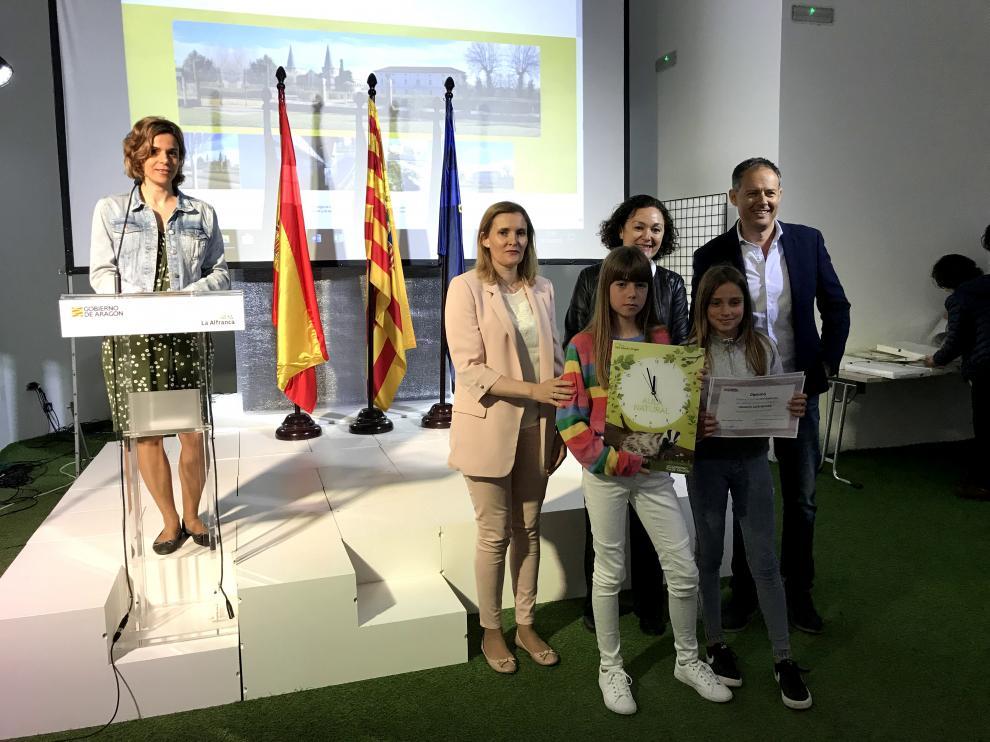 Las alumnas del CRA Palmira Plá recogieron su premio el pasado 28 de mayo, en La Alfranca