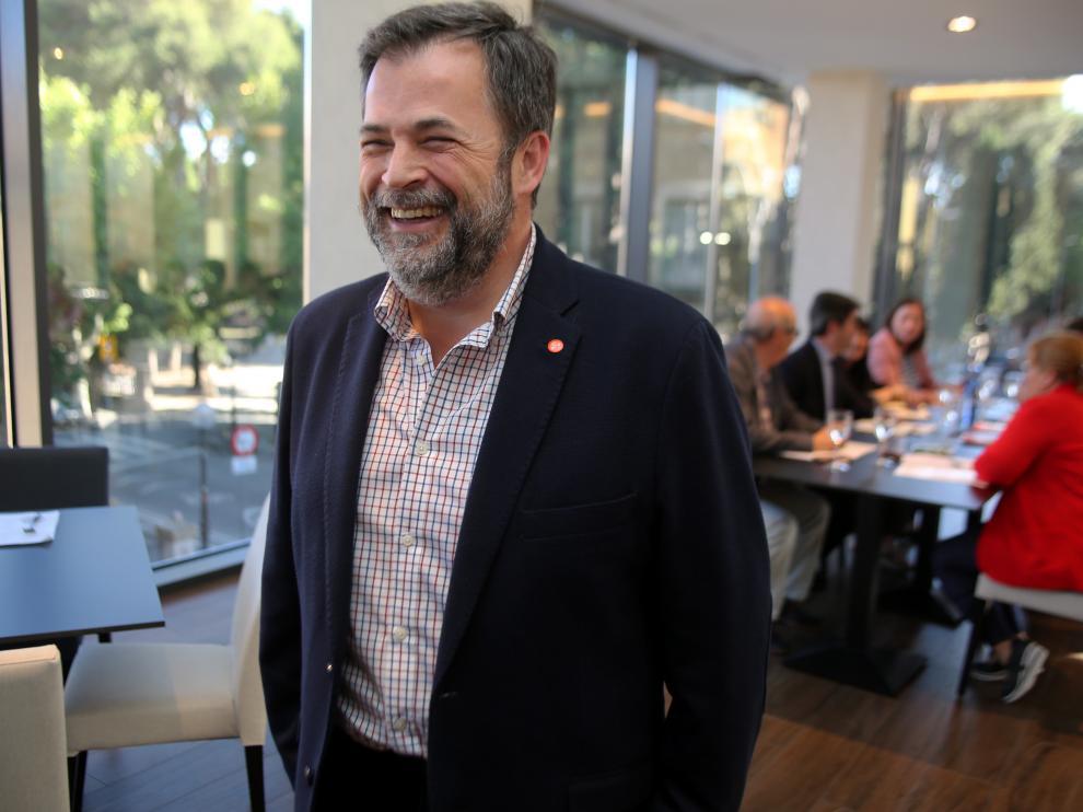 José Luis Cadena este martes durante su reunión con el PSOE.