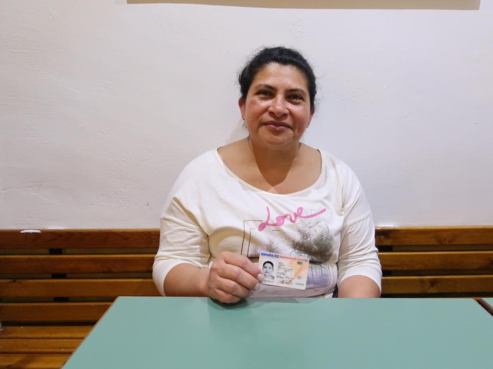 María Auxiliadora, nicaragüense residente en Zaragoza que ha conseguido la nacionalidad española.