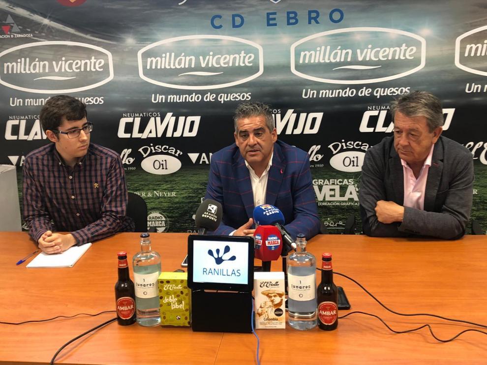 Presentación del nuevo director deportivo del Ebro