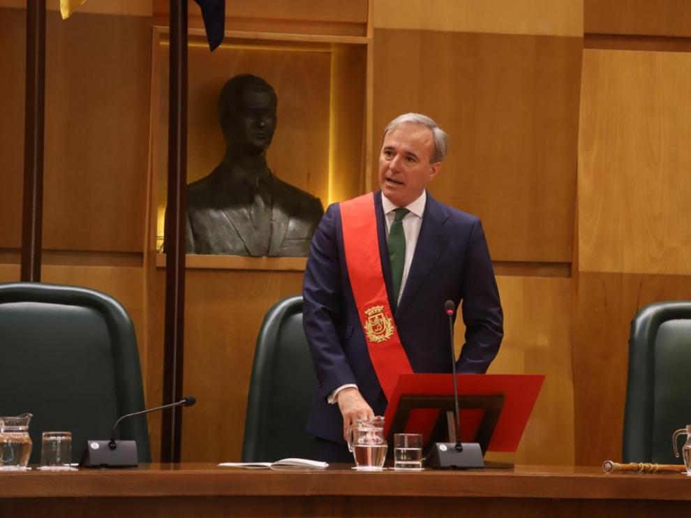 Jorge Azcón, nuevo alcalde de Zaragoza.
