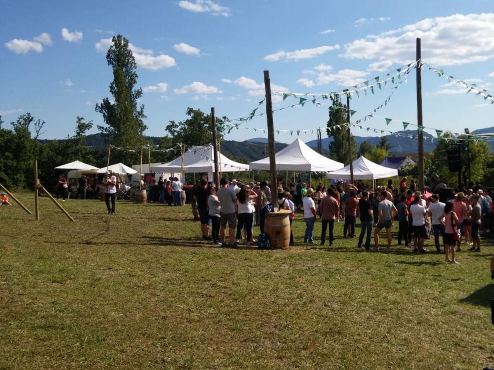 La fiesta de la cerveza en el Pirineo.
