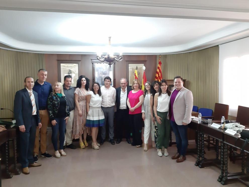 Pascual Embid, investido alcalde de Alagón.