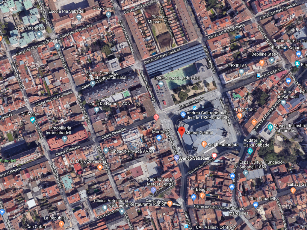 El suceso ha tenido lugar en el aparcamiento subterráneo del Mercado Central de Sabadell.
