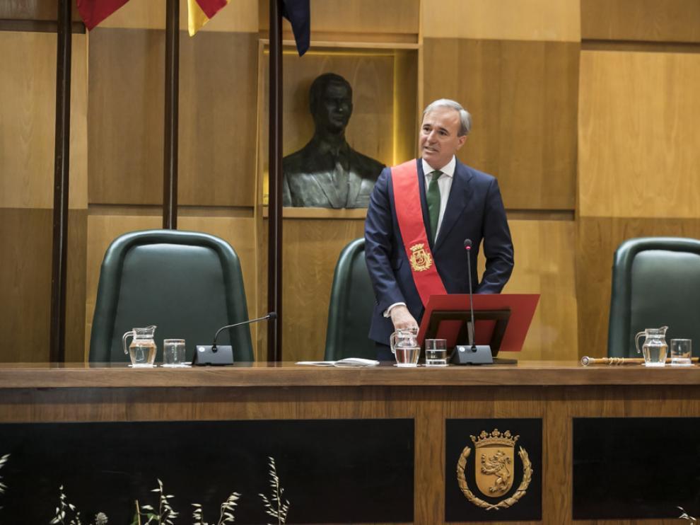 Imágenes del pleno de investidura en Zaragoza 2019
