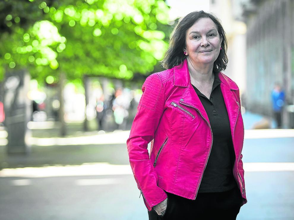 Clara Sánchez, que ha publicado 'El amante silencioso', en Zaragoza.