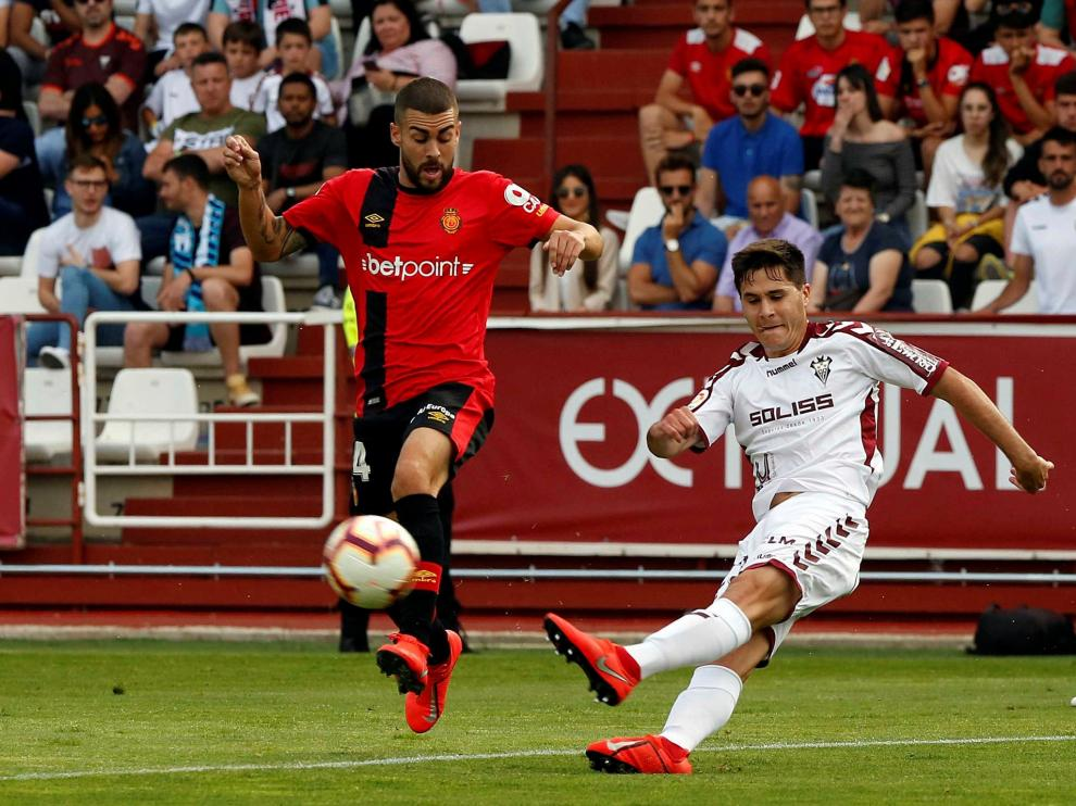 Un lance del Albacete-Mallorca disputado este sábado.