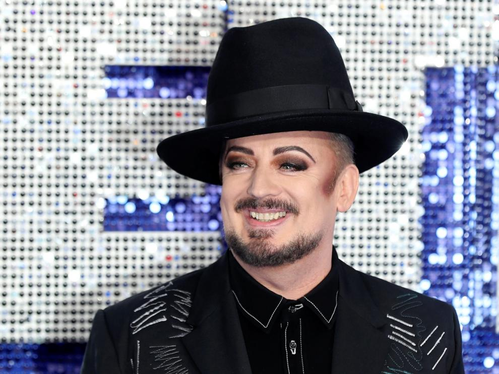 Boy George poses for a photograph during the UK premiere of the Elton John biopic 'Rocketman' in London, Britain, May 20, 2019. REUTERS/Simon Dawson [[[REUTERS VOCENTO]]] FILM-ROCKETMAN/