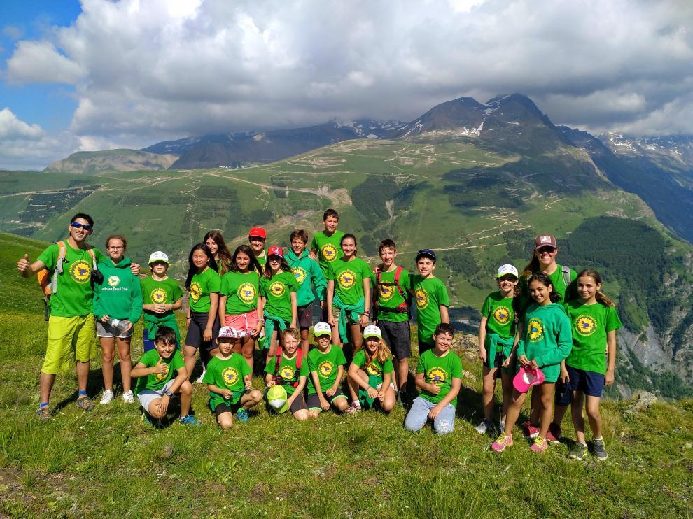 Esquiadores del Panticosa Esquí Club, durante una concentración.