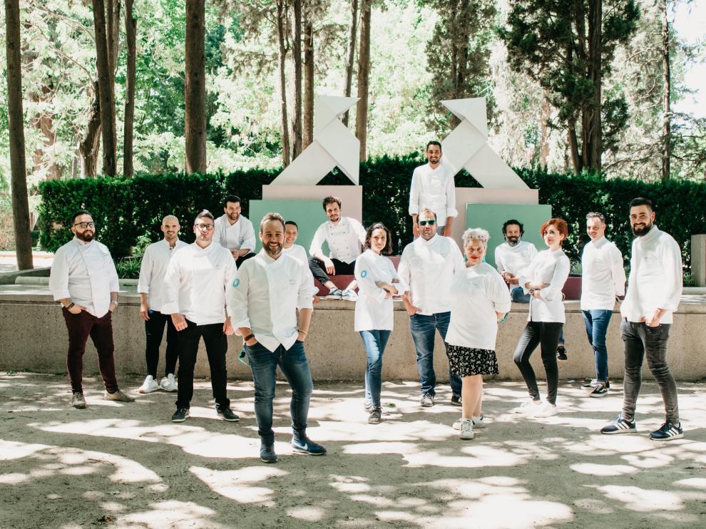 Quince profesionales de la pastelería participaron en este encuentro en Huesca.