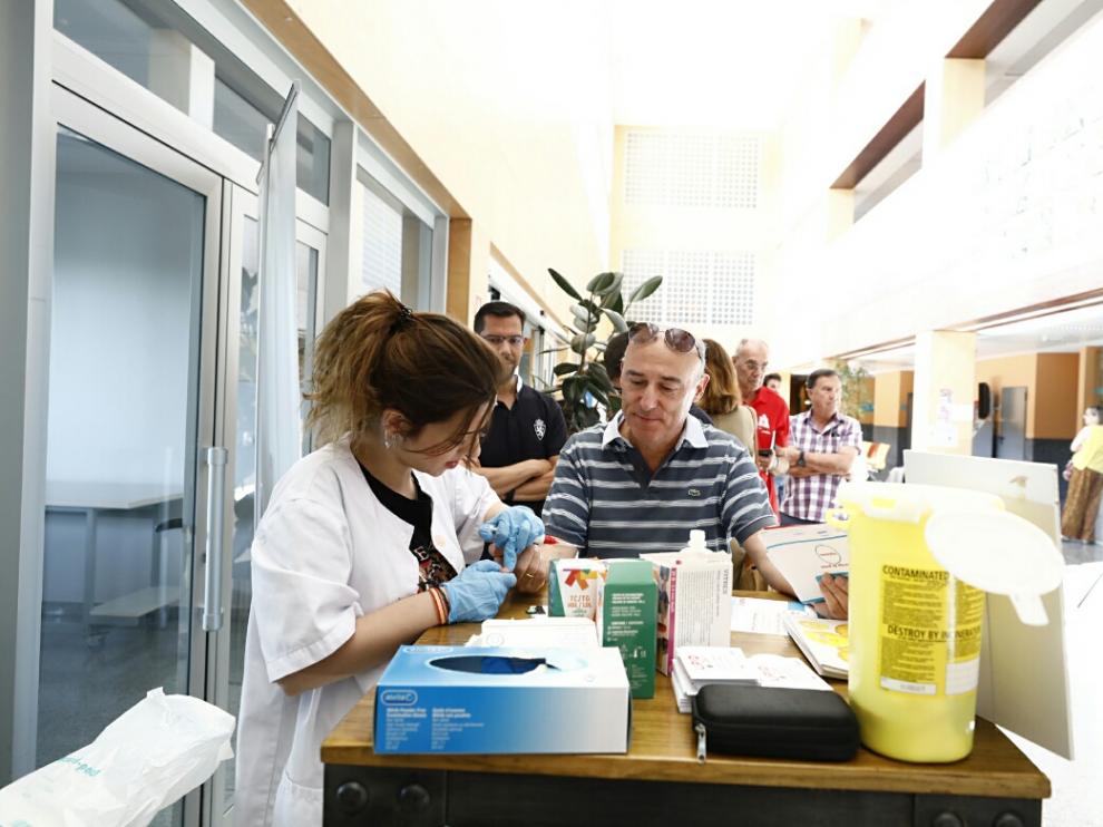 En el Servet se han hecho mediciones gratuitas de colesterol.