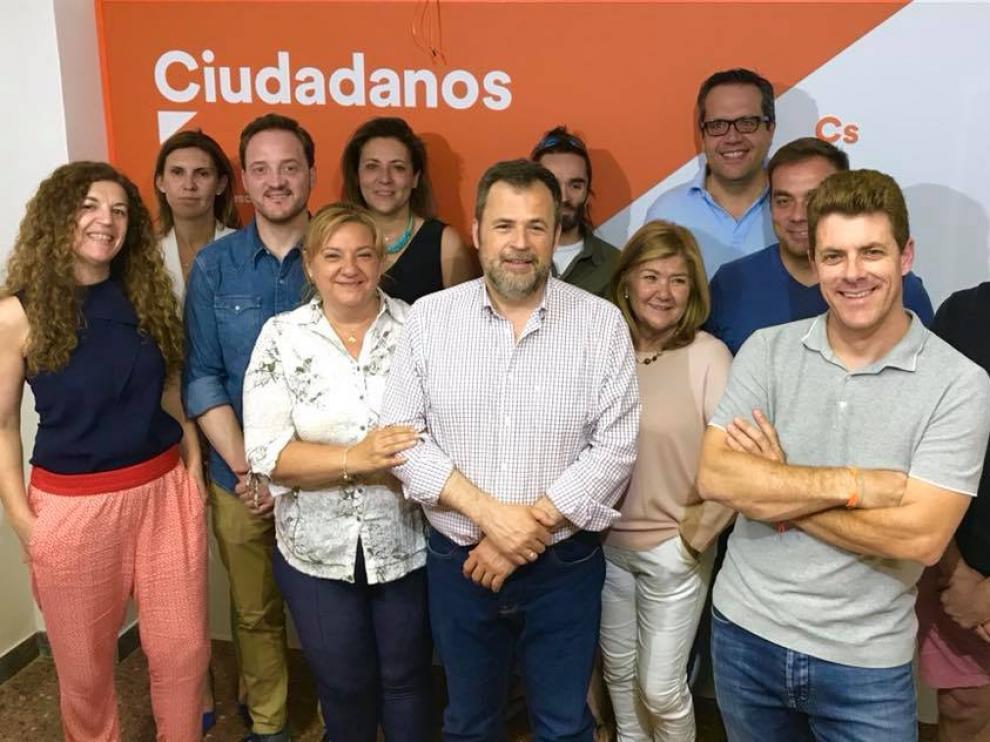Imagen de los dirigentes de Cs en Huesca.