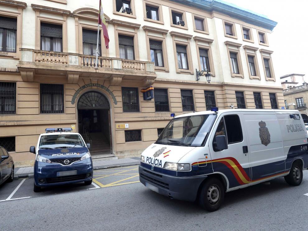 Jefatura Superior de la Policía de Asturias en Oviedo.