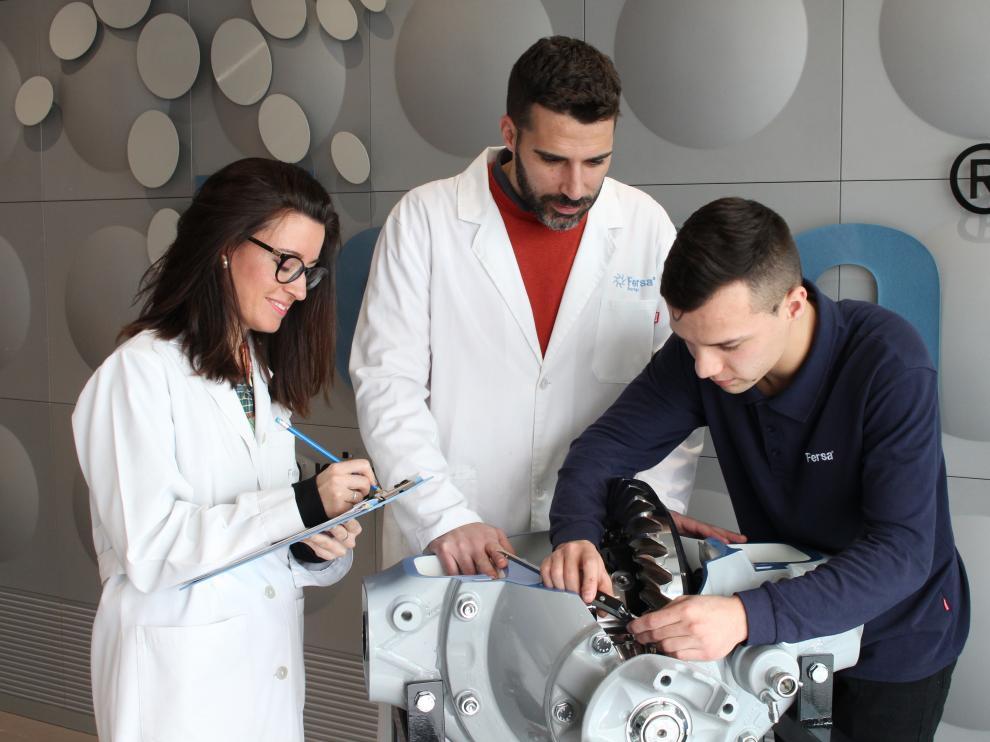 Miembros del equipo de trabajo responsable del desarrollo de los productos de Fersa.