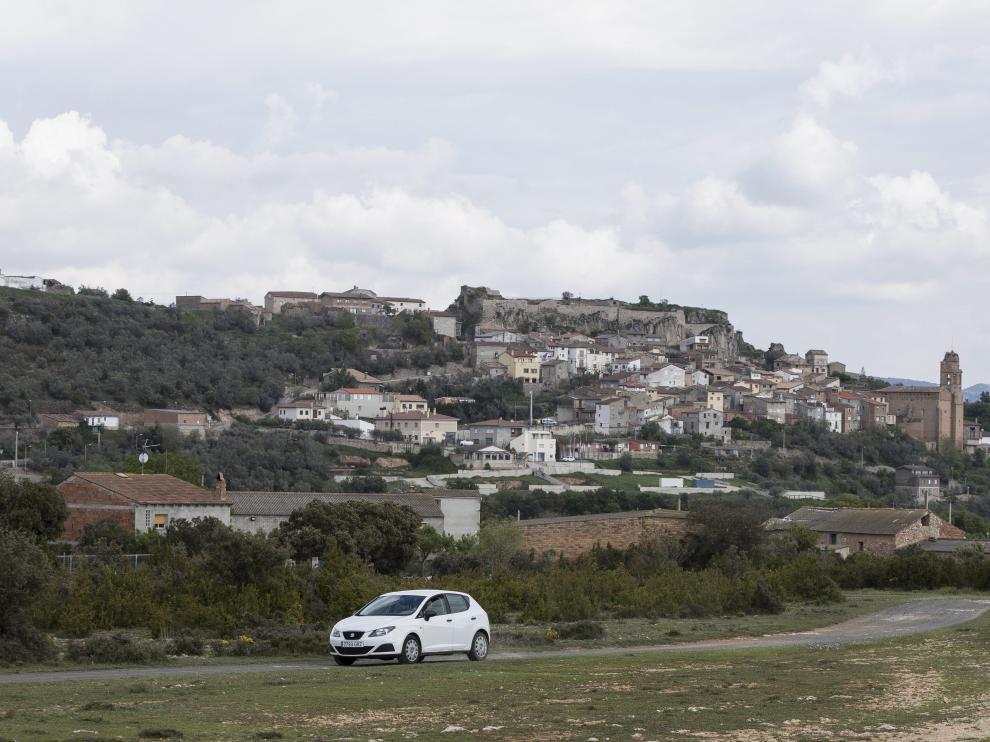 Vista de la localidad de Estopiñán del Castillo, que tiene apenas 130 habitantes.