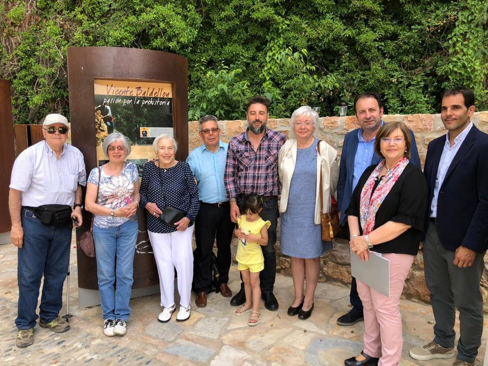 Familiares de Vicente Baldellou.