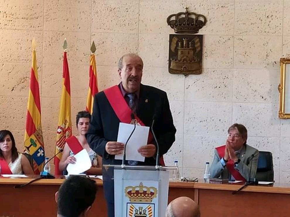 Manuel Rando, al revalidar el pasado día 15 de junio como alcalde de Calamocha.