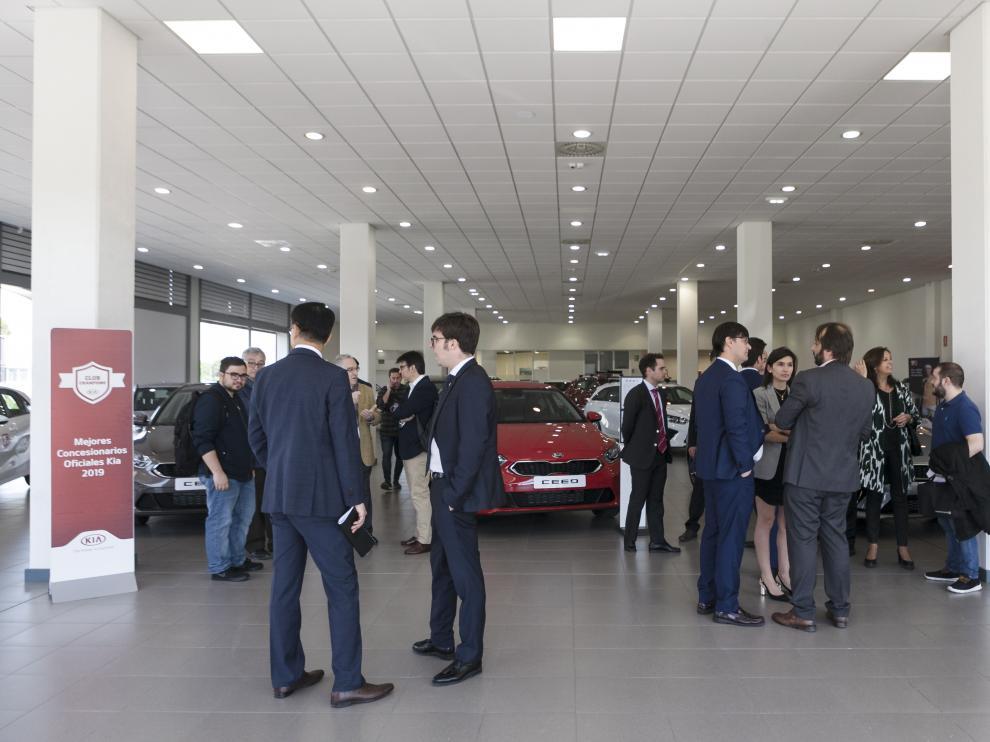 La inauguración del nuevo concesionario de Kia en Zaragoza el mes pasado.