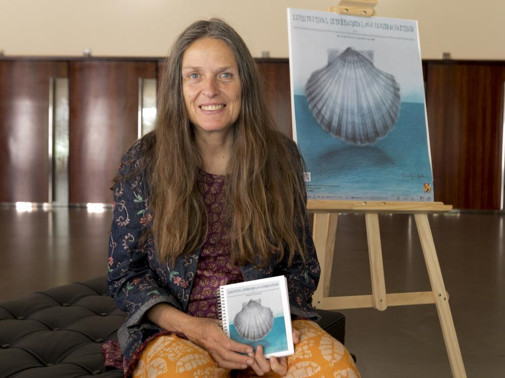 Ouka Lele, autora del cartel del festival en el Camino de Santiago / 20-6-19 / Foto Rafael Gobantes [[[FOTOGRAFOS]]]