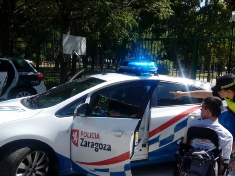 La unidad de Seguridad Vial acudió al centro con el objetivo de prevenir accidentes.