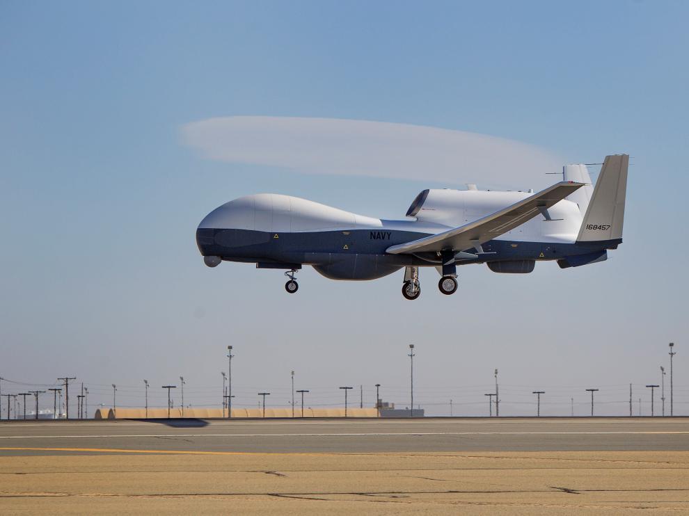 Imagen de archivo de un dron MQ-3C de las fuerzas aéreas estadounidenses.