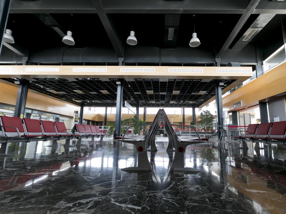 Aeropuerto de Huesca Pirineos hoy /21.6.19/ Foto Rafael Gobantes [[[FOTOGRAFOS]]]