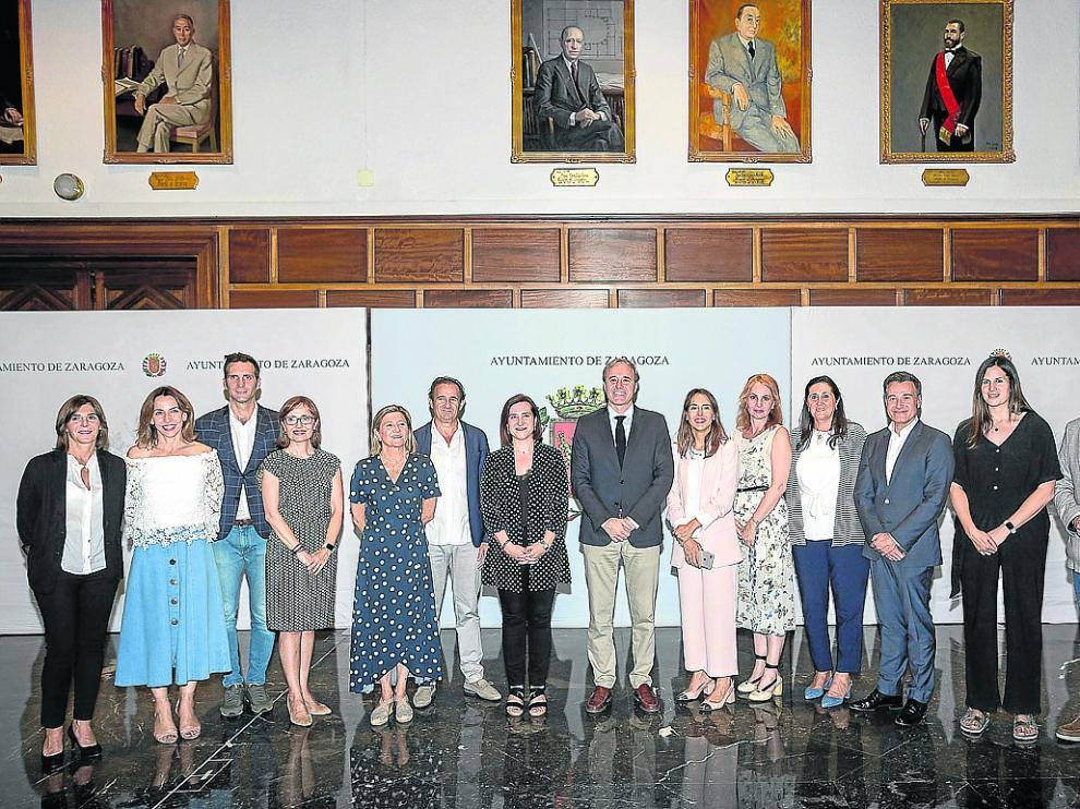 Los miembros del gobierno PP-Cs, el pasado miércoles en su presentación oficial.