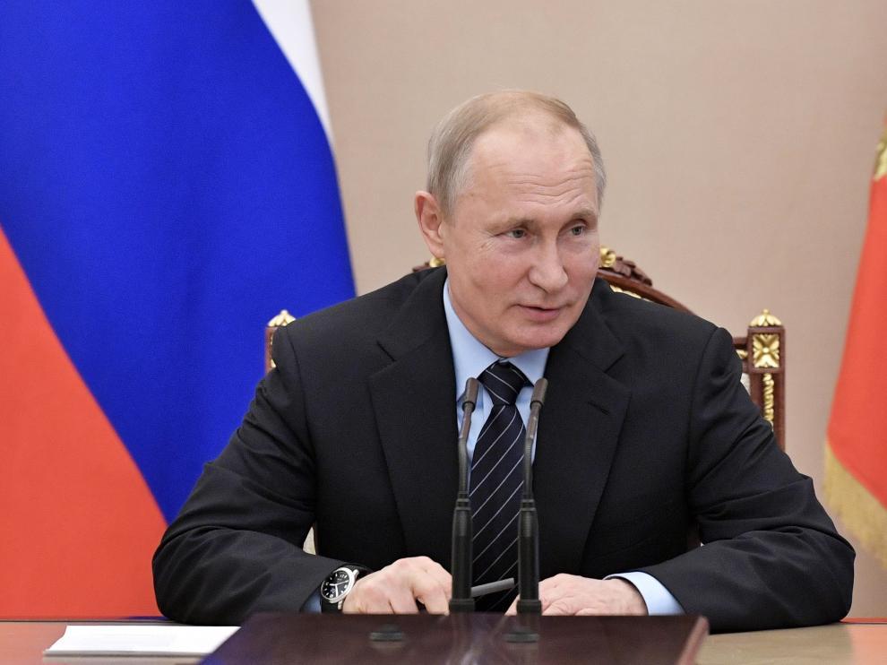 El presidente ruso, Vladimir Putin, este viernes en Moscú.
