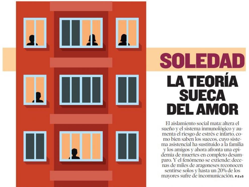 Ilustración del diseñador de Heraldo Víctor Meneses para la portada del reportaje, publicado en Heraldo Domingo en abril de 2018