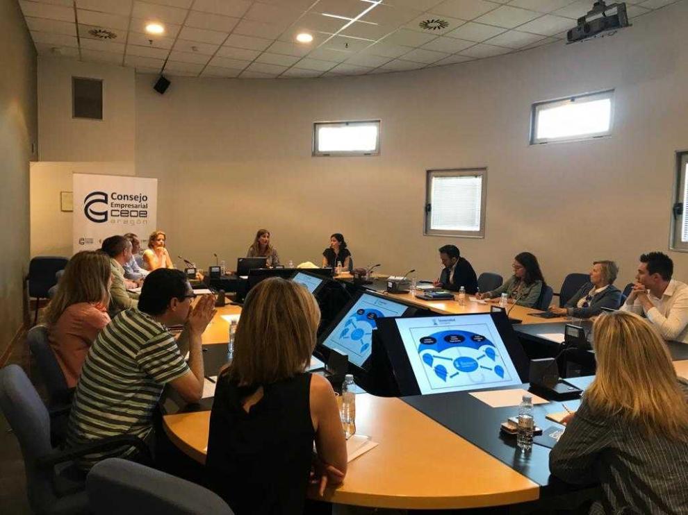 El Consejo Empresarial de CEOE Aragón se reunió el pasado jueves.