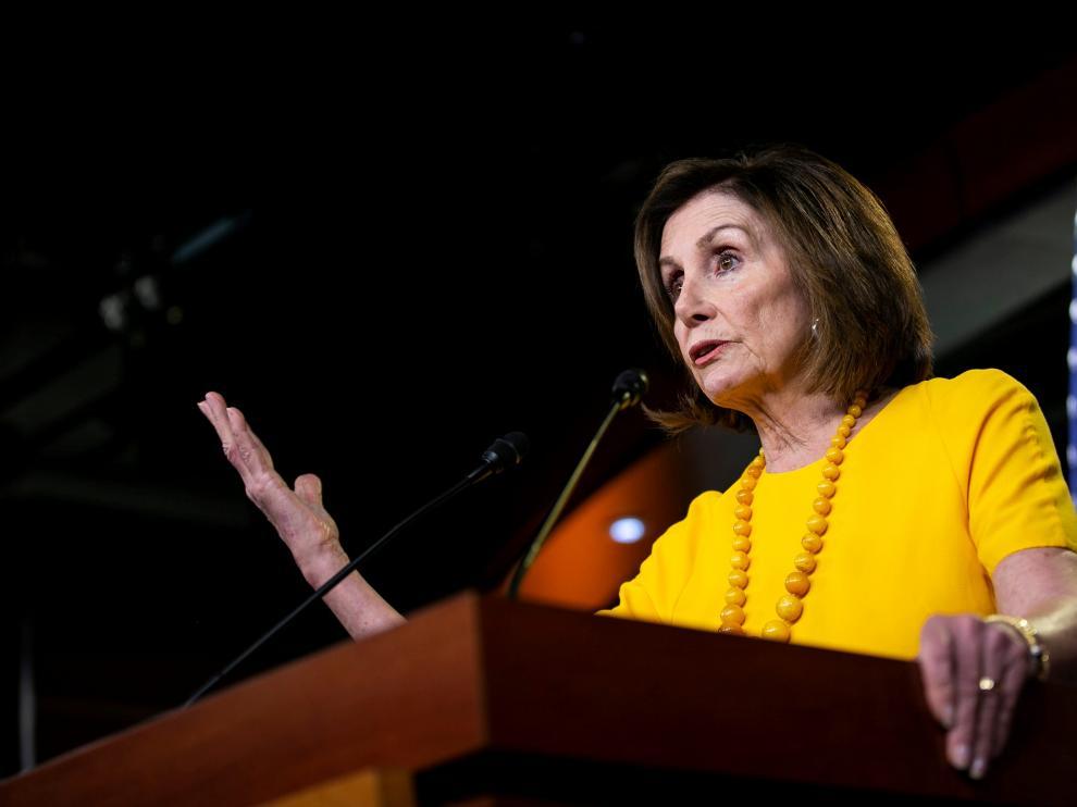 La presidenta de la Cámara de Representantes de EE. UU., Nancy Pelosi.