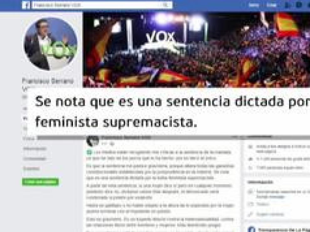 """Esta puntualización se produce horas después de que Serrano, cabeza de lista del partido en las elecciones andaluzas, haya considerado en redes sociales que la sentencia por violación a La Manada está """"cargada de condicionantes mediáticos y políticos""""."""