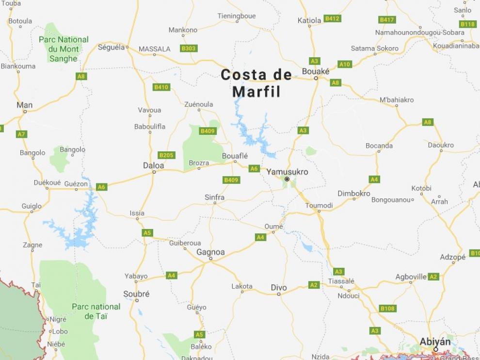 Accidente en Costa de Marfil.
