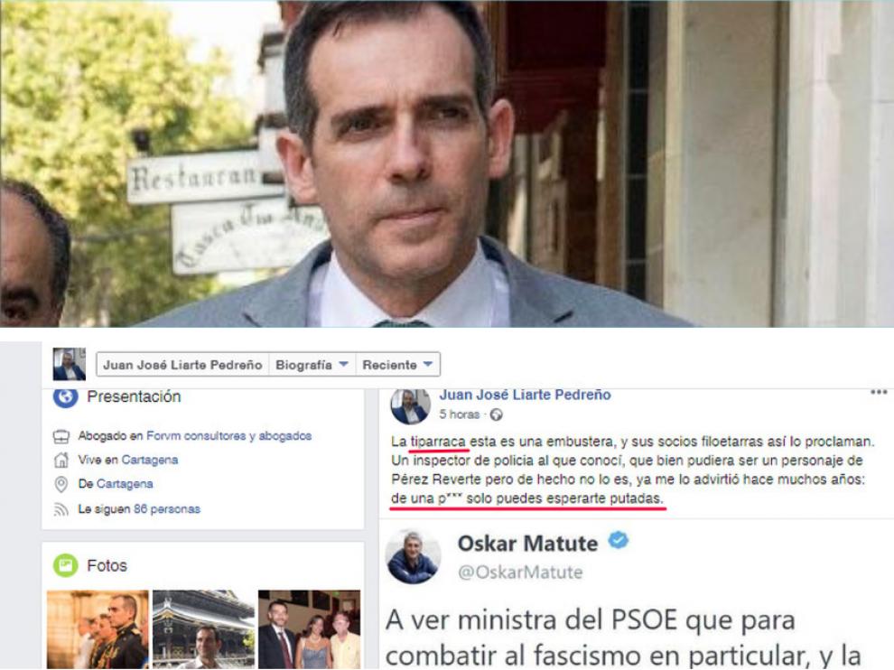 Juan José Liarte y el texto que escribió en Facebook