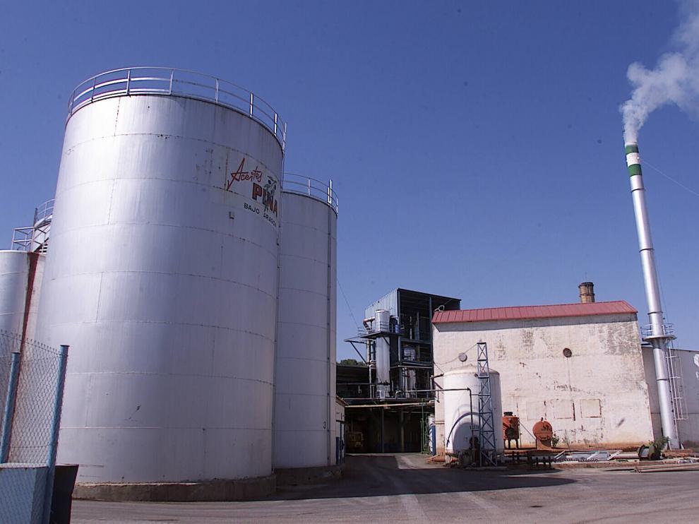 Imagen de archivo de la antigua fábrica de Aceites Pina en La Puebla de Híjar.
