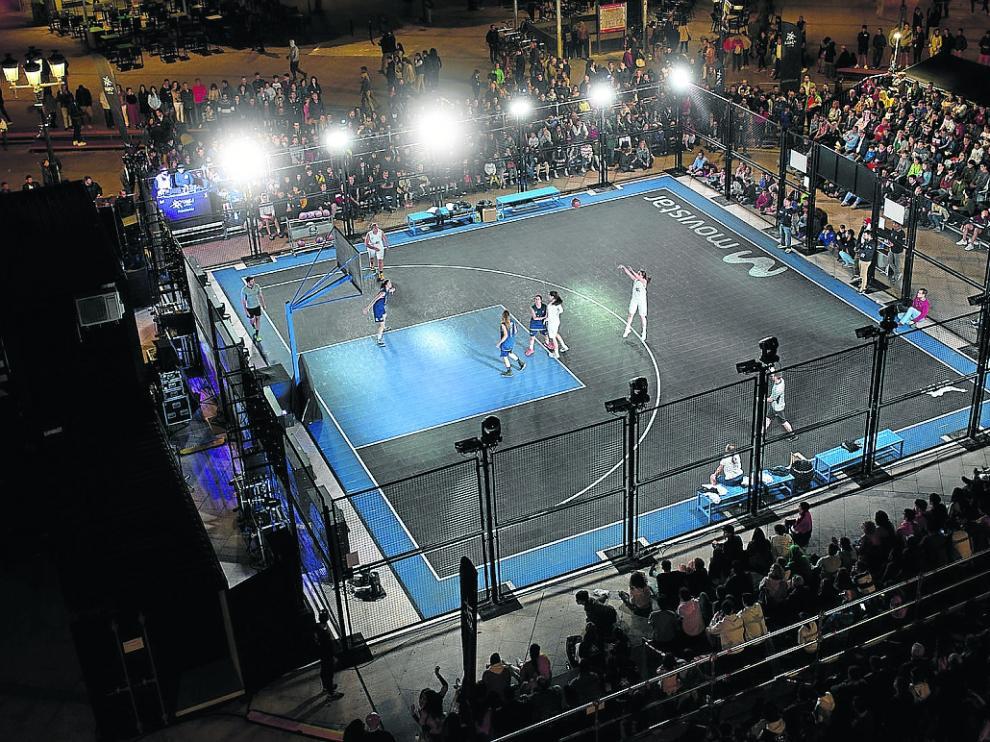 Espectacular imagen de La Jaula en la competición que tuvo lugar en Burgos.