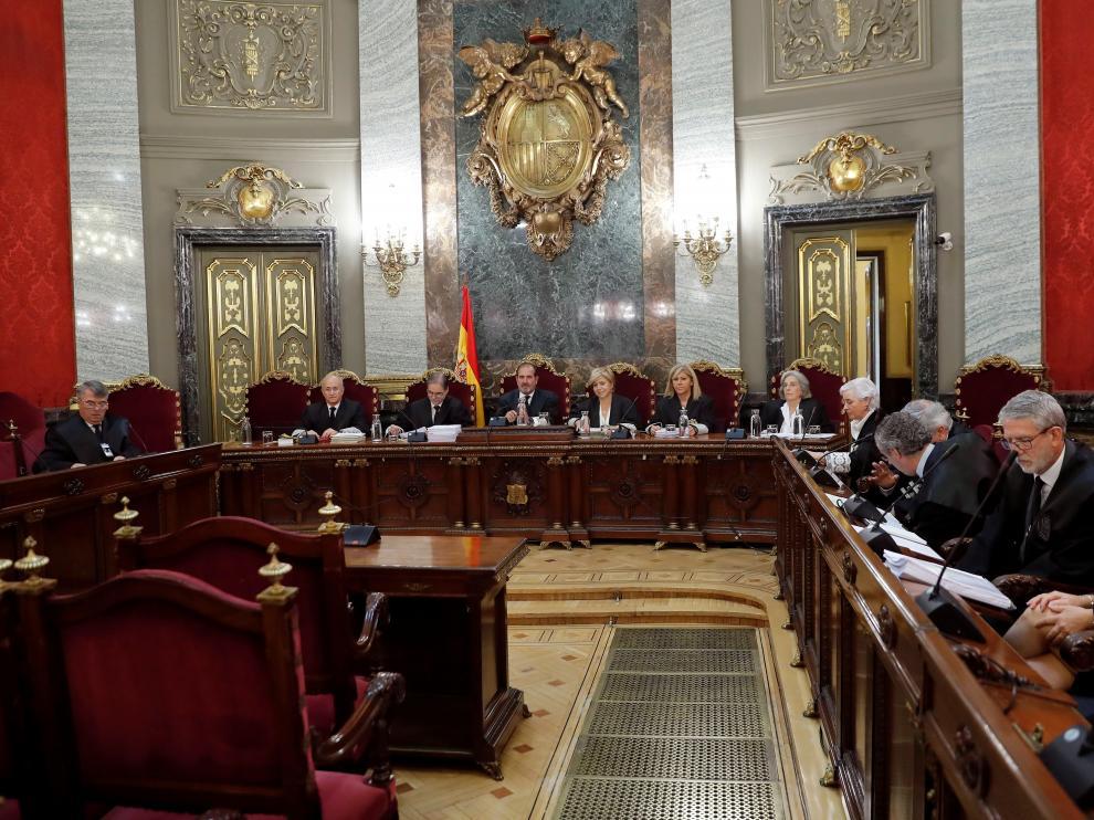 Vista del Tribunal Supremo, donde se sentaron los acusados por el caso de La Manada.