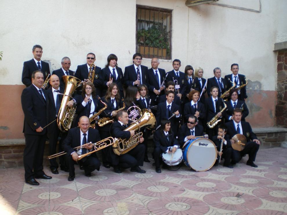 Unas 40 personas componen la Banda Municipal de música de Brea de Aragón.