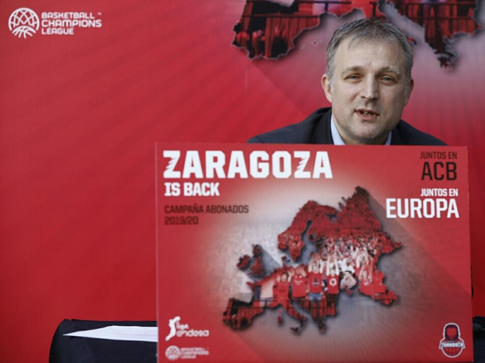 El gerente de Basket Zaragoza, Predrag Savovic
