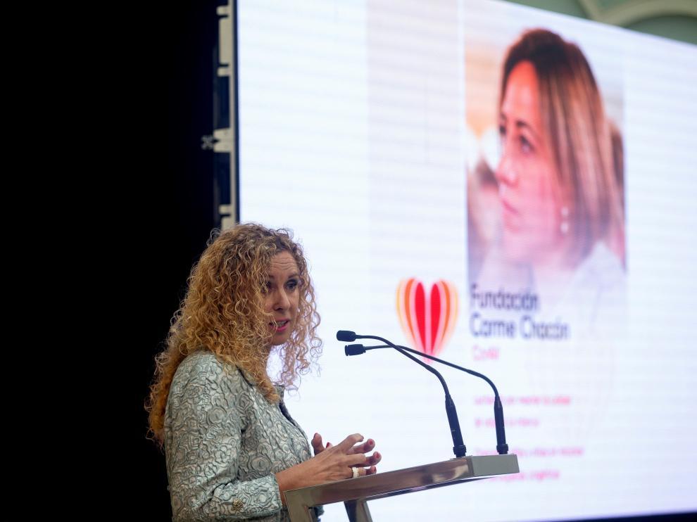 La exsenadora María José Elices preside la nueva Fundación Carme Chacón que se ha presentado este martes en Barcelona.