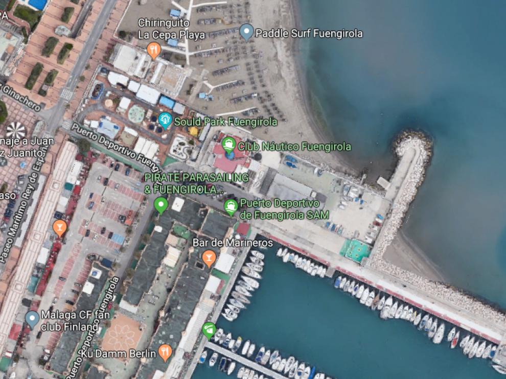 Los hechos se produjeron en una zona de ocio situada en las inmediaciones del puerto deportivo de Fuengirola.