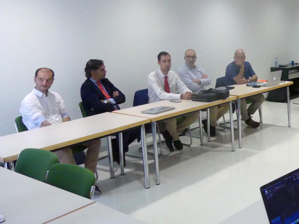 Ponentes en la jornada celebrada ayer en el Seminario de Zaragoza