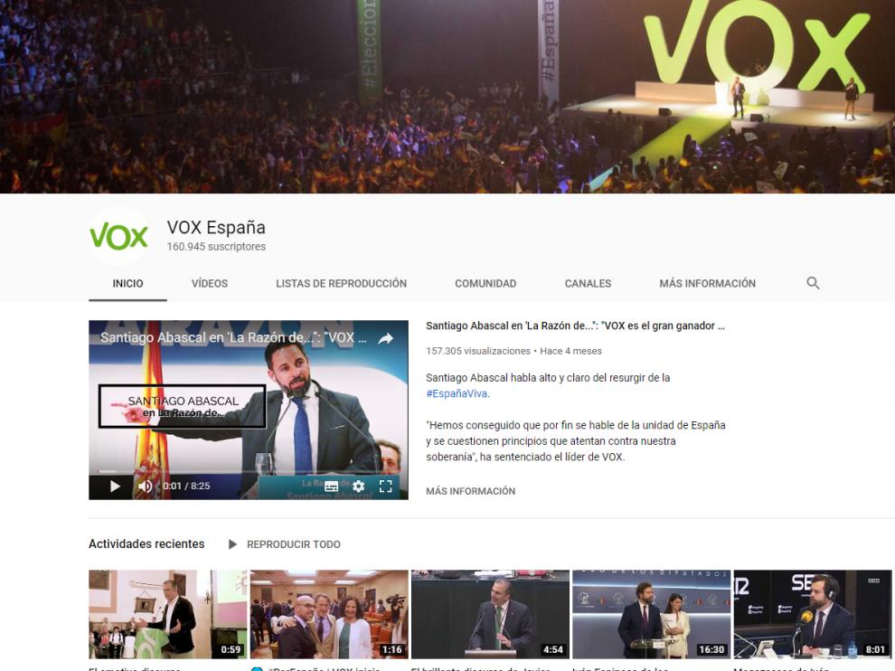 YouTube cerró durante varios días el canal oficial de Vox.