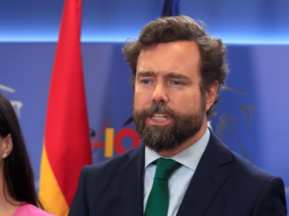 El portavoz de Vox en el Congreso de los Diputados y coordinador de su comité negociador, Iván Espinosa de los Monteros.