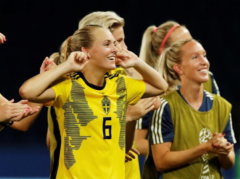 Magdalena Eriksson durante el partido