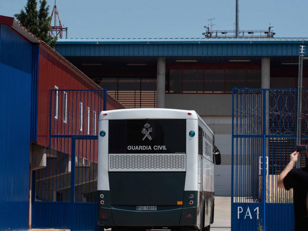Traslado de los presos del 'procés' a la cárcel de Zuera.