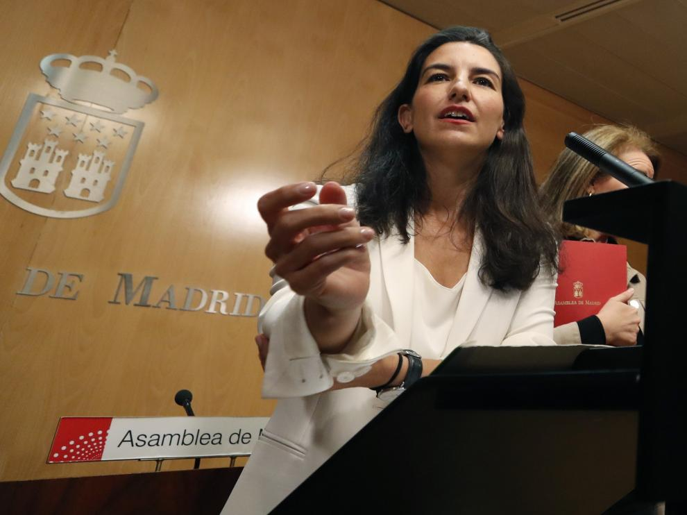 La candidata de Vox a la Presidencia de la Comunidad de Madrid, Rocío Monasterio.