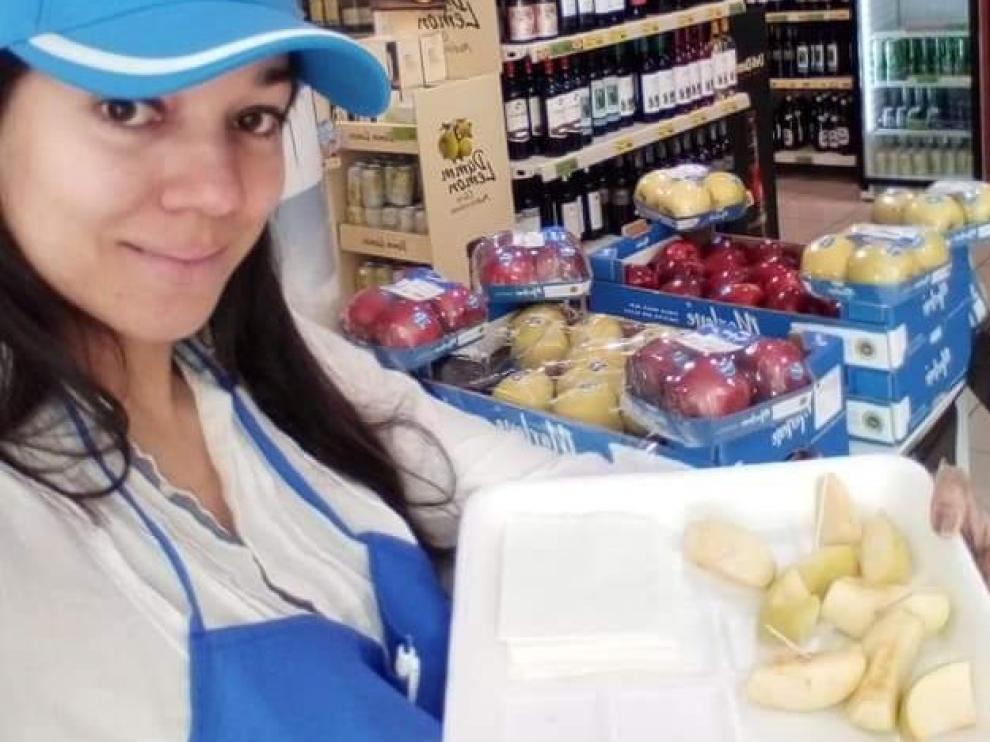 Vanesa, una de las participantes en el programa, logró un puesto de trabajo en el sector del comercio