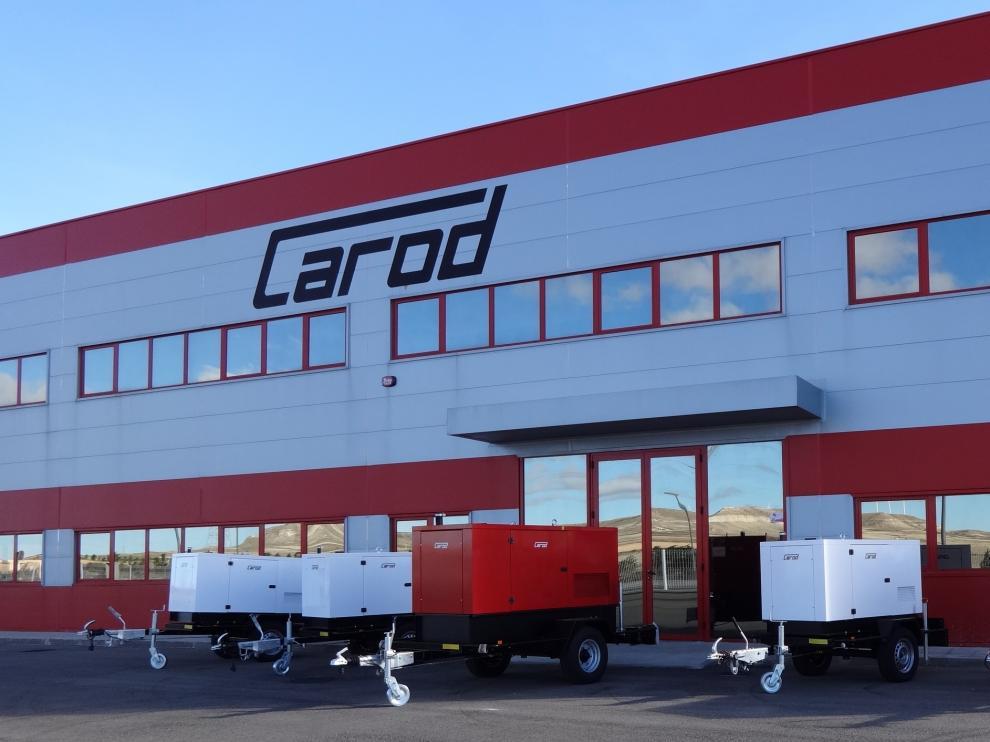 Instalaciones de la empresa Carod en la localidad de Muel, en Zaragoza.